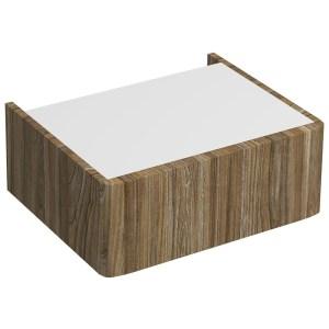Twyford E100 Plinth for 600mm Cabinet Grey Ash Wood