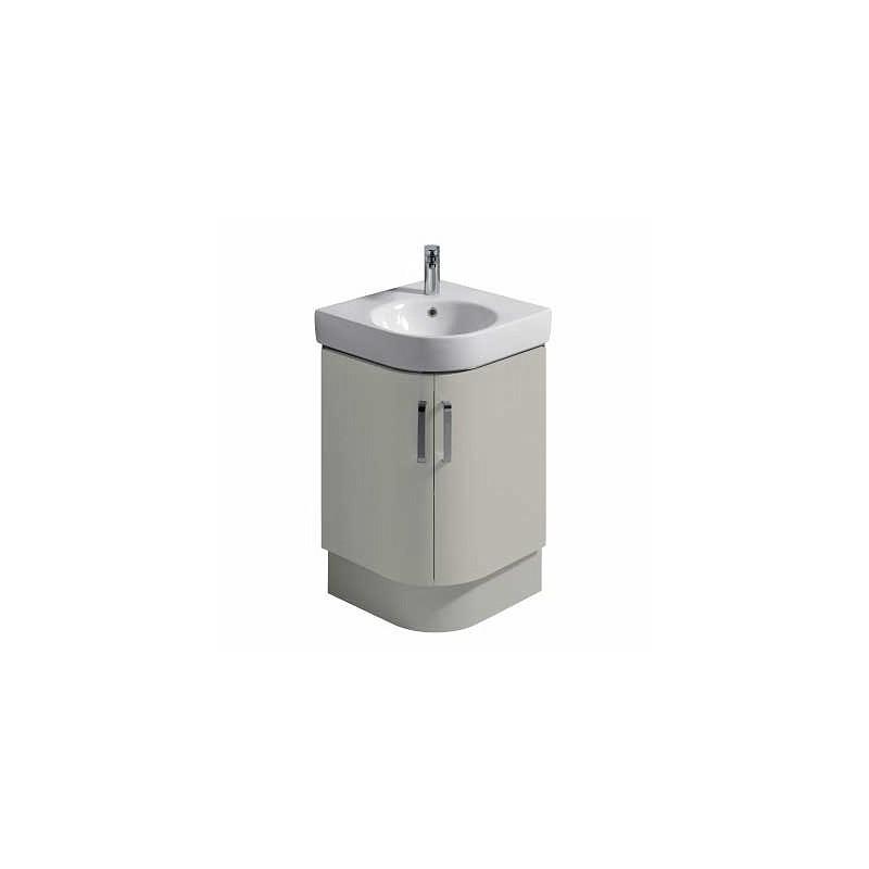 Twyford E200 Plinth for 500 Corner Washbasin Unit Grey