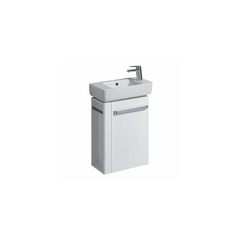 Twyford E200 Vanity Unit for Basin 500x250 LH Towel Rail White