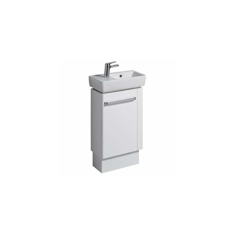 Twyford E200 Vanity Unit for Basin 500x250 RH Towel Rail White