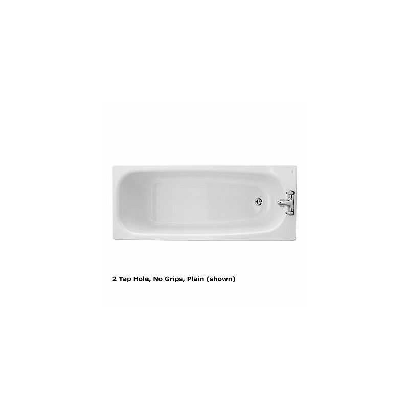 Twyford Neptune Bath 1700x700 2 Tap Slip Resist No Grips