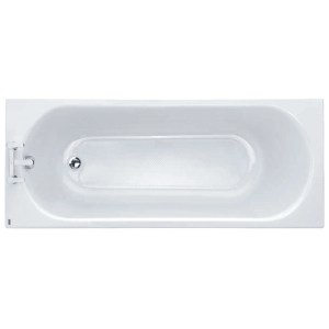 Twyford Opal 1700x700mm Bath 2 Tap Holes Anti Slip