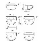 Twyford Sola Medical Washbasin 500x400 1 Tap Left Hand