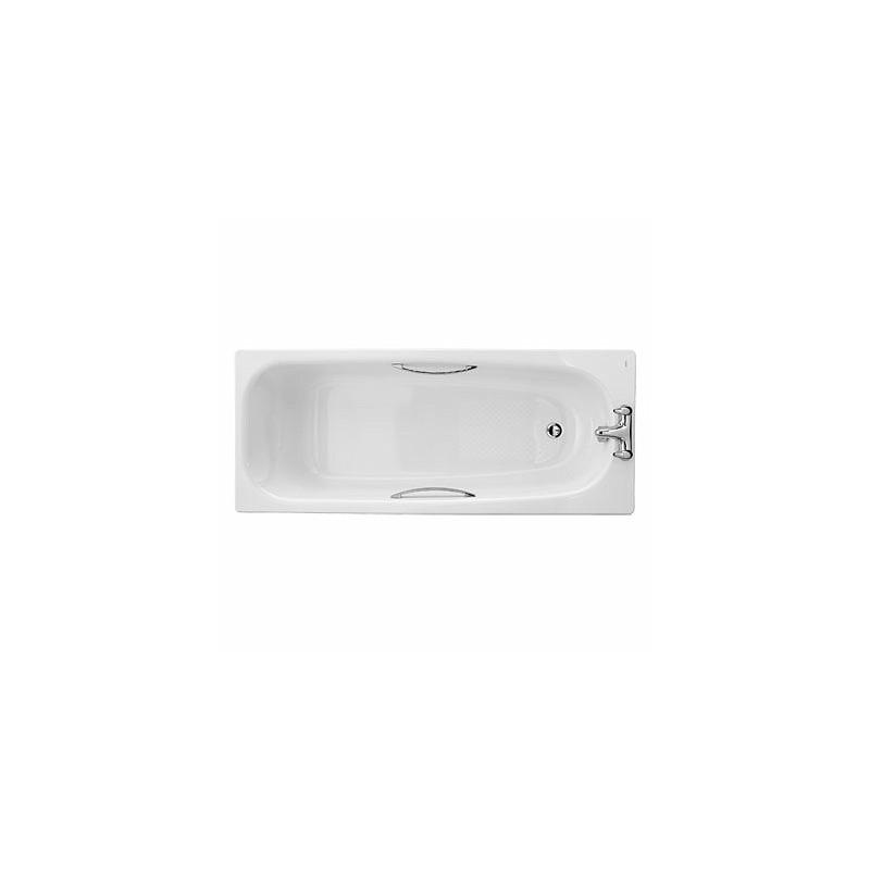 Twyford Shallow Bath 1700x700 2 Tap Slip Resist with Grips