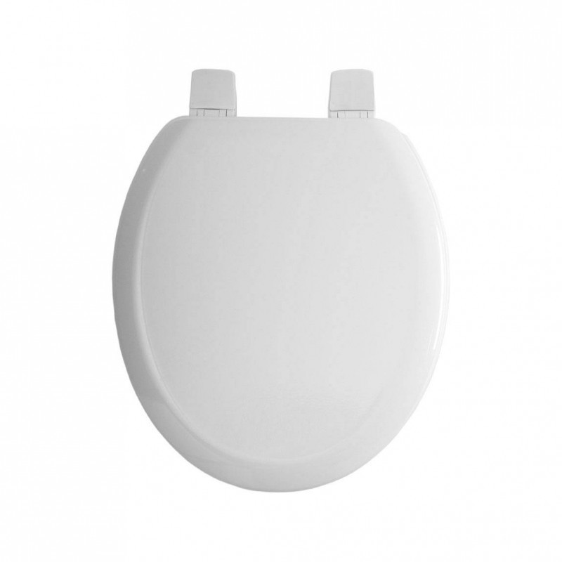 Twyford BS Toilet Seat & Cover with Bottom Fix SS Hinge White