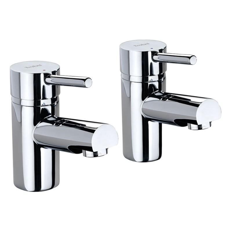 """Twyford X60 3/4"""" Bath Pillar Taps Pair"""