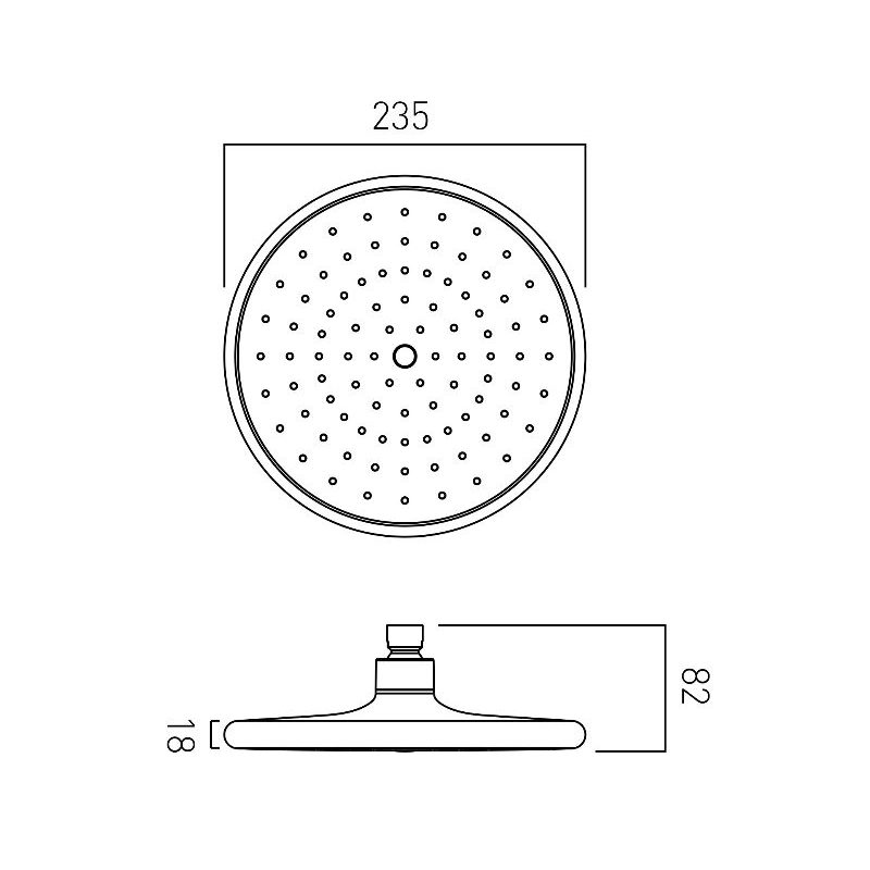 Vado Ceres Self-Cleaning Shower Head 235mm