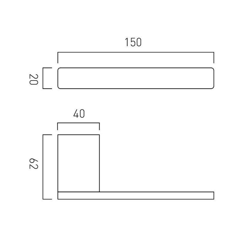 Vado Phase Paper Holder