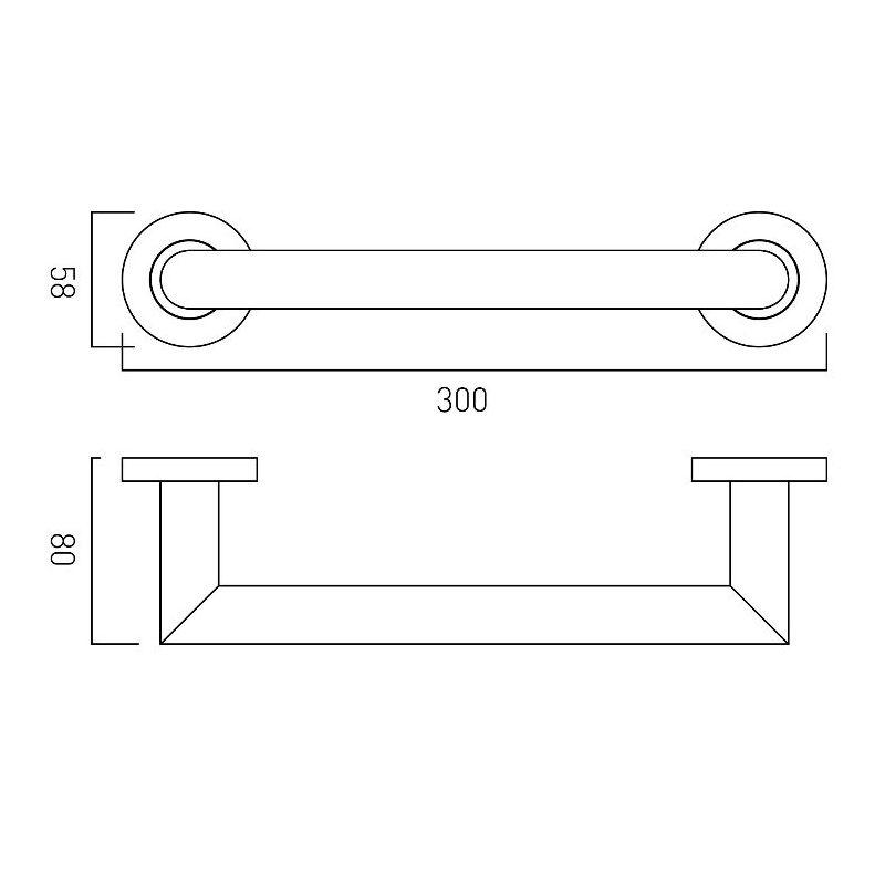 Vado Spa Grab or Towel Rail 300mm