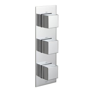Vado Notion 2 Outlet 3 Handle Vertical Thermostatic Valve