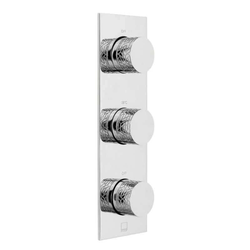 Vado Omika 2 Outlet 3 Handle Vertical Thermostatic Valve