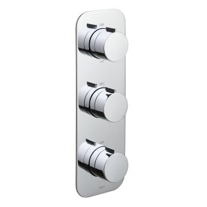 Vado Altitude 3 Outlet 3 Handle Thermostatic Valve with All-Flow