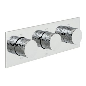 Vado Omika 3 Outlet 3 Handle Thermostatic Valve with All-Flow