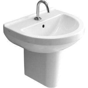 Vitra S50 Basin 55cm 1 Taphole Round White
