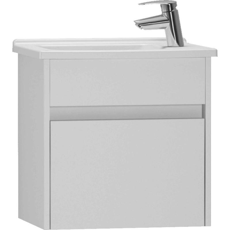Vitra S50 50cm Compact Washbasin Unit with Basin Gloss White