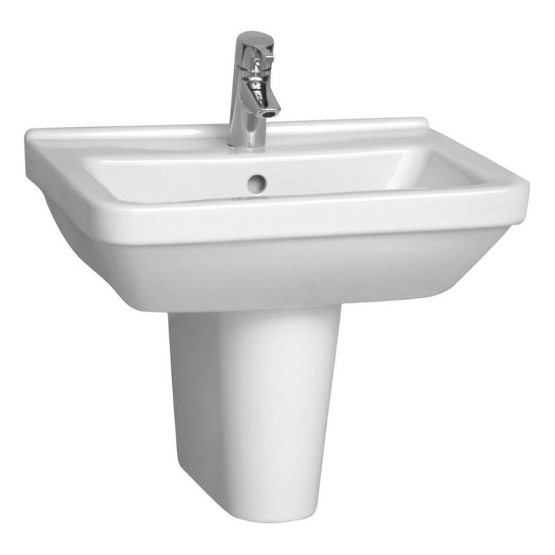 Vitra S50 Basin 55cm Square 1 Taphole White