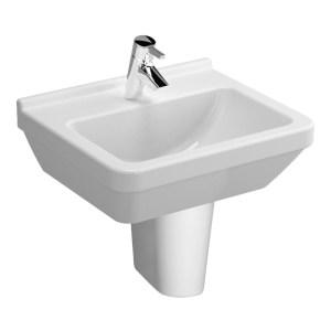 Vitra S50 Basin 50cm Square 1 Taphole White