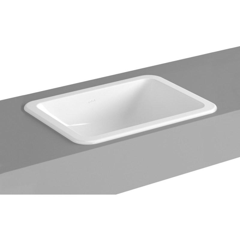 Vitra S20 Compact Countertop Basin 50cm Square No Taphole