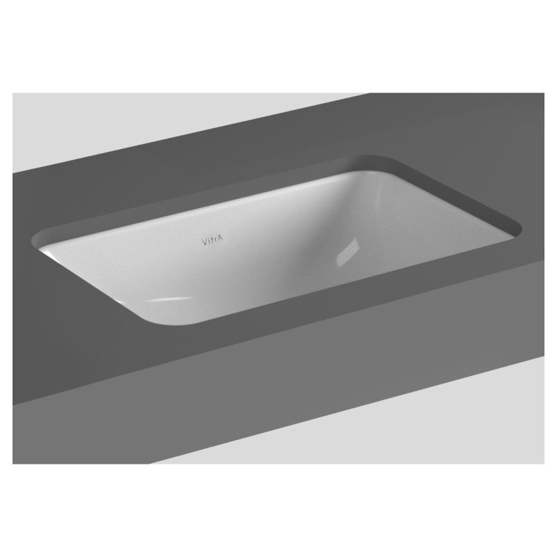 Vitra S20 Compact Under-Counter Basin 48cm Square No Taphole