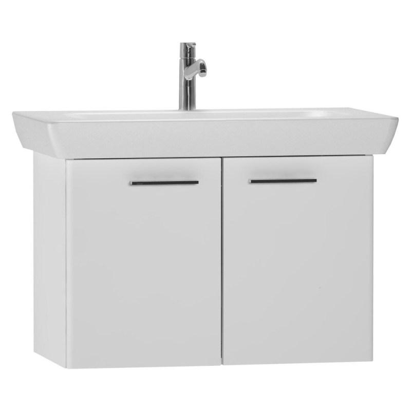 Vitra 85cm Washbasin Unit with 5523 Basin Gloss White