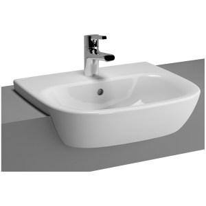 Vitra Zentrum Semi-Recessed Washbasin 50cm