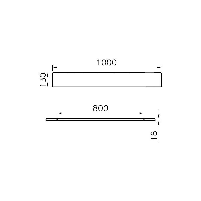 Vitra S50 Shelf 100cm High Gloss White