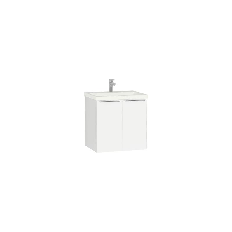 Vitra Ecora 1 Door Washbasin Unit & Basin Pack 60cm White