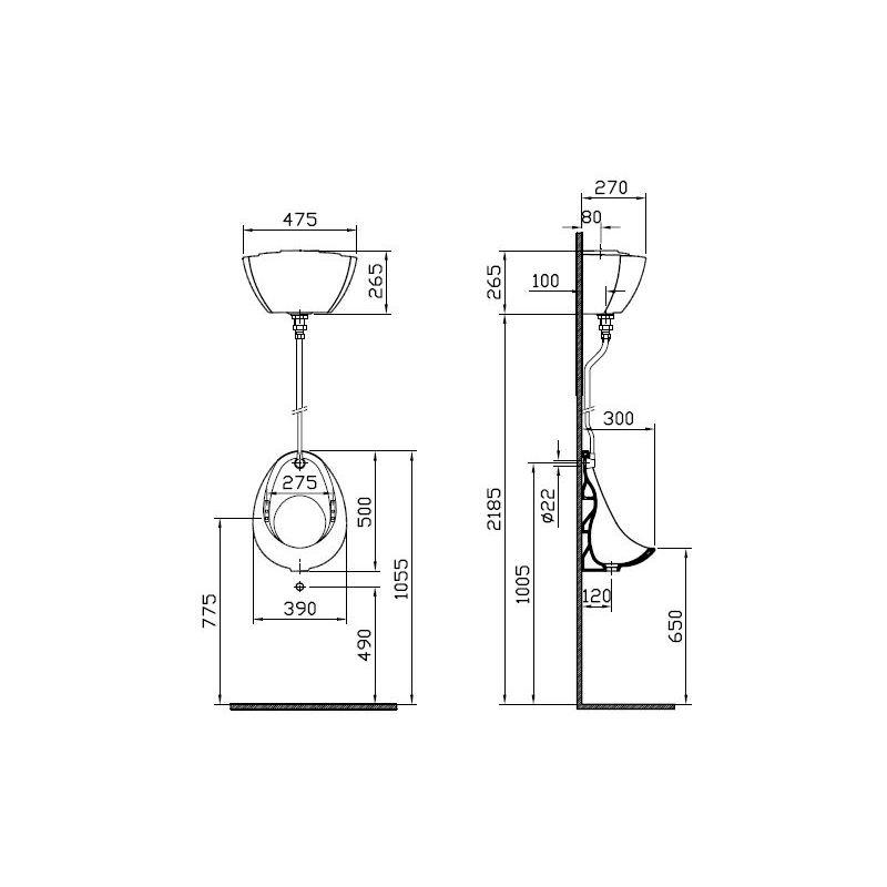Vitra Arkitekt Urinal