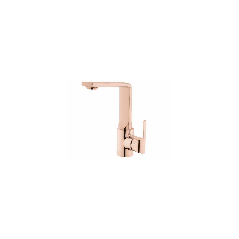 Vitra Suit L Basin Mixer with Swivel Spout Copper