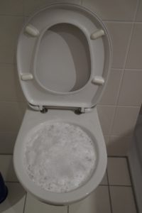 Blocked toilet