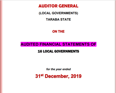 2019 Audited Financial Statements for 16 Local Governments