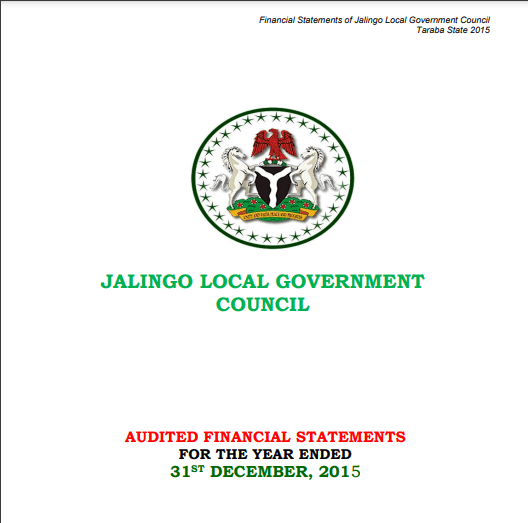 2019 Financial Statements for the 16 Local Governments in Taraba State
