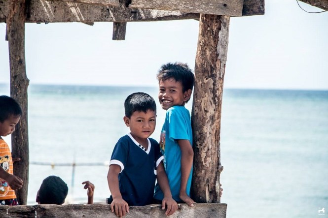 Kids in Jomalig island