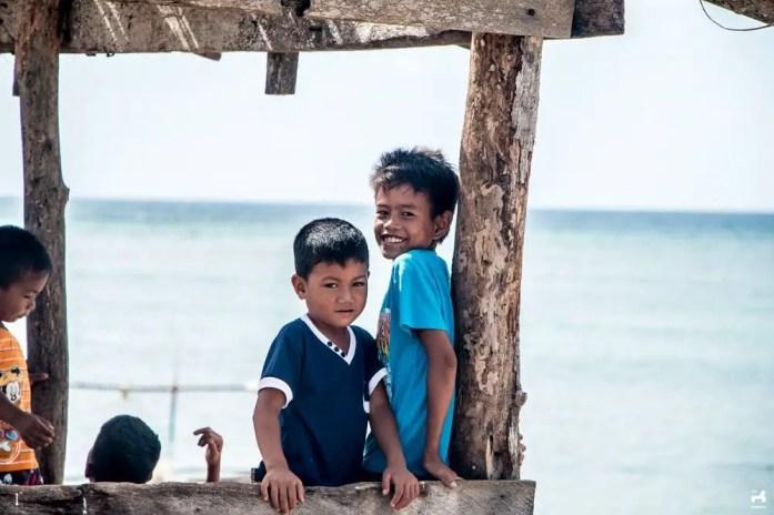 Kids in Jomalig island