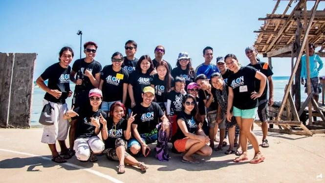 Alon ng Pag-asa volunteers in Jomalig Island