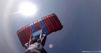 GoPro shot during actual skydive