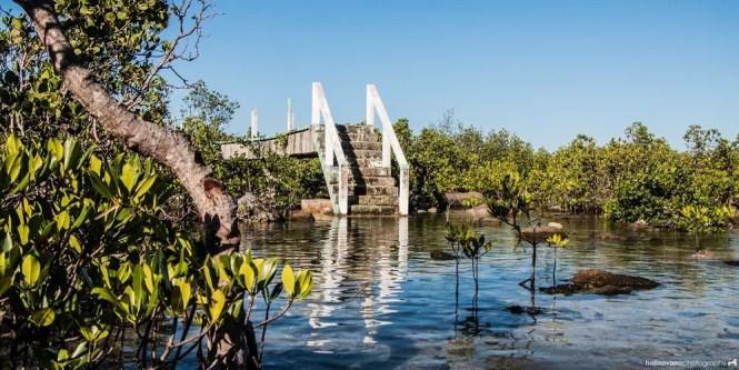 Bridge in Biri rock formation