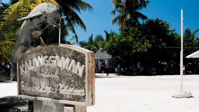 Kalanggaman Island signage