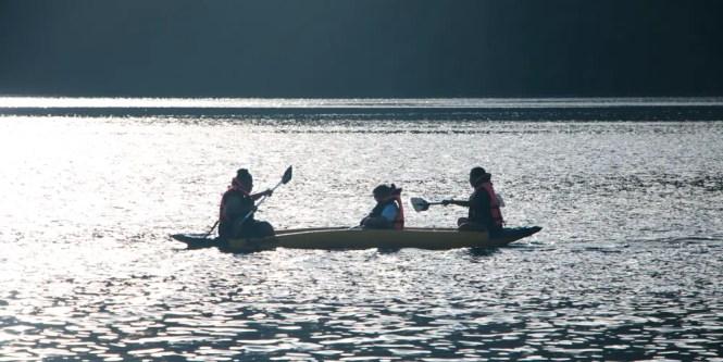 Kayaking in Lake Holon