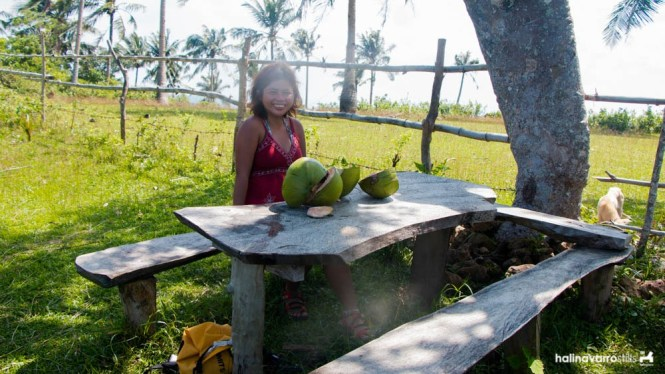 A visit to a province won't be complete without fresh coconuts! (Photo by Hali Navarro)