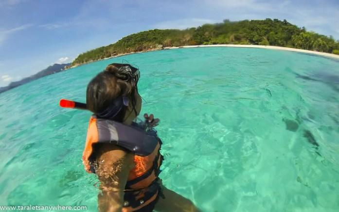 Snorkeling in Malcapuyo Island