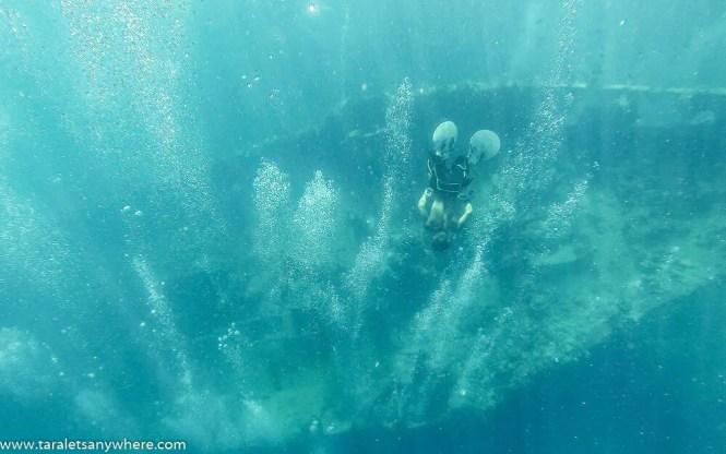 Shipwreck in Pass Island, Coron