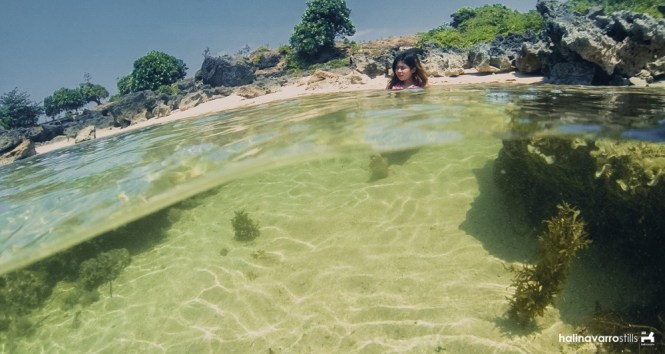 Mini-pool in Cabongaoan Beach, Pangasinan