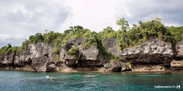 Rock formation and snorkeling area in Higatangan Island, Biliran