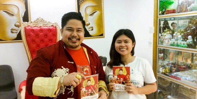 With Master Hanz Cua, a professional tarot reader in Manila