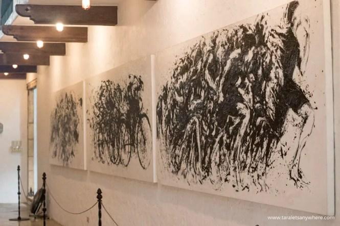 Pinto Art Museum cyclist