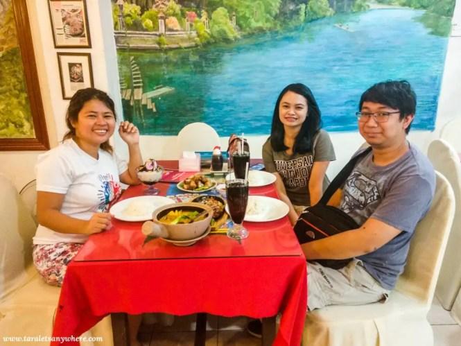 Group shot in Mabuhay Laguna Restaurant