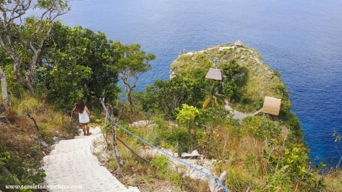 Stairs to TreeHouse, Thousand Island, Nusa Penida