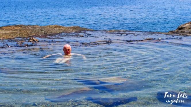 Natural pool in Bisaya-Bisaya Island, Once Islas