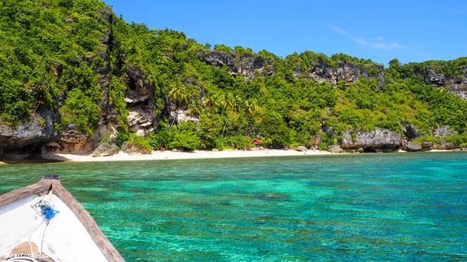 Private beach in Buton Island